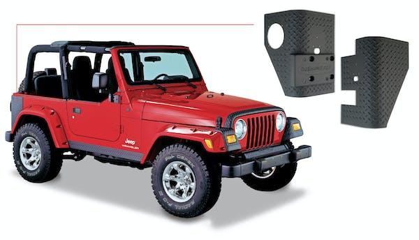 Bushwacker 14001 Jeep Trail Armor Rear Corner - Pair - OE Matte Black