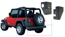 Bushwacker 14004 Jeep Trail Armor Rear Corner - Pair - OE Matte Black