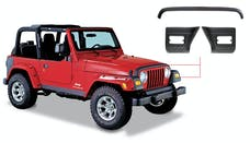 Bushwacker 14005 Trail Armor Hood Stone Guard and Front Corners, Black