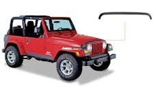 Bushwacker 14006 Jeep Trail Armor Hood Stone Guard - OE Matte Black