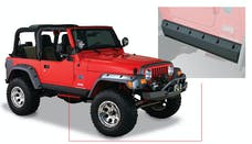 Bushwacker 14008 Jeep Trail Armor Pocket Style Rocker Panel - Pair - OE Matte Black
