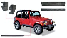 Bushwacker 14901 Jeep Trail Armor Six Piece - Set - OE Matte Black