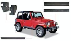 Bushwacker 14901 Jeep Trail Armor Six Piece - Set - OE Matte Black