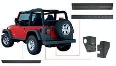 Bushwacker 14902 Jeep Trail Armor Six Piece - Set - OE Matte Black