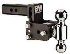 B&W Towing TS10035B B&W Tow And Stow Dual Ball 2 Adj Ball Mount 3 Drop/3-1/2 Rise, Black