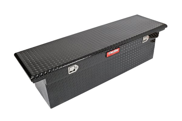 Dee Zee DZ8170DLB Tool Box, Red Crossover Single Lid Black BT