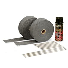 DEI 010110 Exhaust Wrap Kit - with Black Wrap & Black HT Silicone Coating
