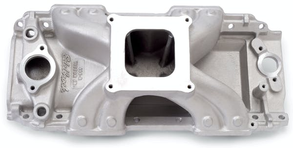 Edelbrock 2902 Victor 454-Rectangle Port Square Flange Intake Manifold