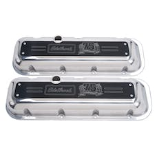 Edelbrock 4127 Valve Cover; 75th Anniversary Edition; BBC; Chevy 396-502 1965-Later; 2.75in. Lo