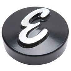 "Edelbrock 4271 E Logo Black Anodized Nut (Machined ""E"") for Pro-Flo Unv. 14"" Round Air Cleaners"