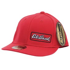 Edelbrock 9159 Cap, U-Curve, Side logo, Red, L-XL