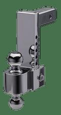"Fastway 42-00-2800 Fastway 8"" Adjustable Pin Style Aluminum BM 2"" & 2 5/16"" Chrome Balls"