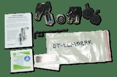 Fastway DT-LBM02RK Flash 2 Pack Rekey Kit for LBM & ALBM (2 Cylinders, 4 Keys, Tool & Covers)