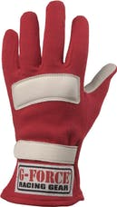 G-FORCE Racing Gear 4101LRGRD GF G5 GLOVES SFI 3.3/5 LARGE RED