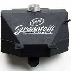 Granatelli Motorsports 510101-BL 2015-18 Coolant Expansion Tank with Built in Overflow Catch Can, Radiator 2015-2 Radiator 2015-2017 Mustang V8, V6, EcoBoost and Shelby GT350 Aluminum Wrinkle Black Powder Coat with Granatelli Logo