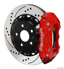 "Granatelli Motorsports G140-11270-DR Big Brake, Rear Kit 14.25"" Drilled Red-Reqs G220-11383 Lines, Granatelli/Wilwood"