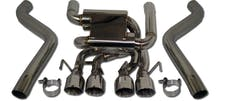 "Granatelli Motorsports GM-ES0508C LS2 and LS3 Only Axle Back 2.5"" Exhaust System,304 Stainless,4""Tips,C6 Corvette"