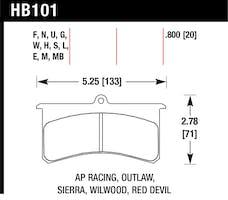 Hawk Performance HB101H.800 Disc Brake Pad