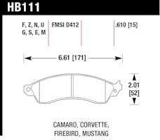 Hawk Performance HB111F.610 Disc Brake Pad