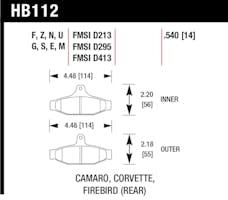 Hawk Performance HB112F.540 Disc Brake Pad