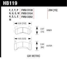 Hawk Performance HB119N.594 HP Plus