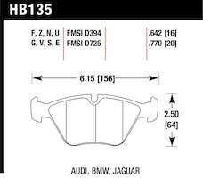 Hawk Performance HB135E.770 Disc Brake Pad