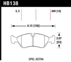 Hawk Performance HB138E.690 Disc Brake Pad