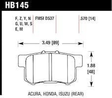 Hawk Performance HB145F.570 Disc Brake Pad