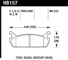 Hawk Performance HB157M.484 Disc Brake Pad