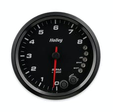 Holley 26-616 4-1/2 Holley 8K Tach W/Shft Lgt-Black