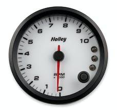 Holley 26-617W 3-3/8 Holley 10K Tach W/Shft Lgt-White