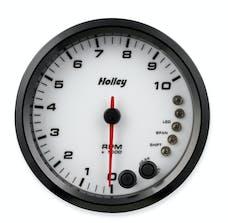 Holley 26-618W 4-1/2 Holley 10K Tach W/Shft Lgt-White