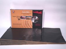 Hushmat 10800 Super Bulk Kit has 9 black sheets of 18x32 in Ultra. Total 36 sqft.