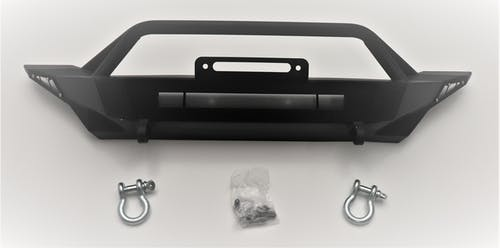 Iconic Accessories 232-5501 Full Front Bumper w/Rectangular Light Opening Textured Black