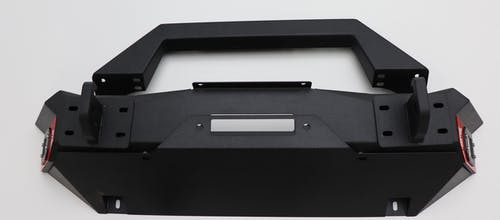 Iconic Accessories 232-5601 Stubby Front Bumper Textured Black