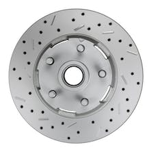 LEED Brakes 5406001 LCDS Rotor Left side Cross drilled and slotted