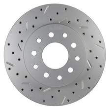 LEED Brakes 5560001LCDS Rotor Left side Cross drilled and slotted