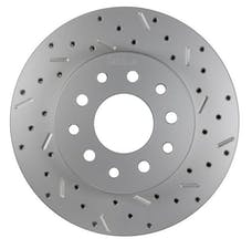 LEED Brakes 5560001RCDS Rotor Right side Cross drilled and slotted