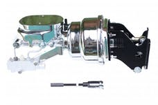 LEED Brakes 776B2 7 in Dual Power Booster , 1-1/8in Bore, side valve, disc/drum (Chrome)