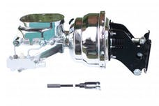 LEED Brakes 796B4 8 in Dual Power Booster , 1-1/8in Bore, side valve, disc/disc (Chrome)