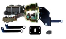 LEED Brakes A81A1 8 in Dual Power Booster , 1-1/8in Bore Master w/ disc/drum valve