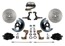 LEED Brakes BFC1002-3A3X Front Disc Brake Kit - Manual Brakes - Black - MaxGrip - Disc/Drisc