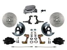 LEED Brakes BFC1002-F05X Front Disc Brake Kit - Manual - Chrome - Black - MaxGrip