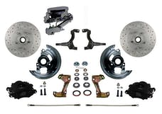 LEED Brakes BFC1002-FA3X Front Disc Brake Kit - Manual - Chrome - Black - MaxGrip Disc Disc