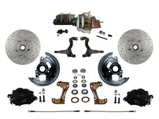 "LEED Brakes BFC1002-M105X Front Disc Brake Kit - Power 8"" Zinc - Black - MaxGrip - Adj. Valve"