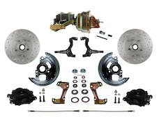 "LEED Brakes BFC1002-M1A3X Front Disc Brake Kit - Power 8"" Zinc - Black - MaxGrip - Disc Disc"