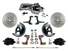 "LEED Brakes BFC1002-N605X Front Disc Brake Kit - Power 8"" Chrome - Black - MaxGrip - Adj. Valve"