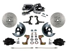 "LEED Brakes BFC1002-N6B4X Front Disc Brake Kit - Power 8"" Chrome - Black - MaxGrip - Disc Disc"