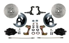 LEED Brakes BFC1002SMX Front Disc Brake Kit - Spindle Mount - Black - MaxGrip