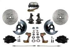LEED Brakes BFC1003-3A1X Front Disc Brake Kit - Manual Brakes - Black - MaxGrip - Disc/Drum